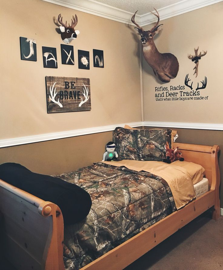 Toddler Room Deer Camo Affordable Bedroom Decor Boys Bedrooms Toddler Boys Room