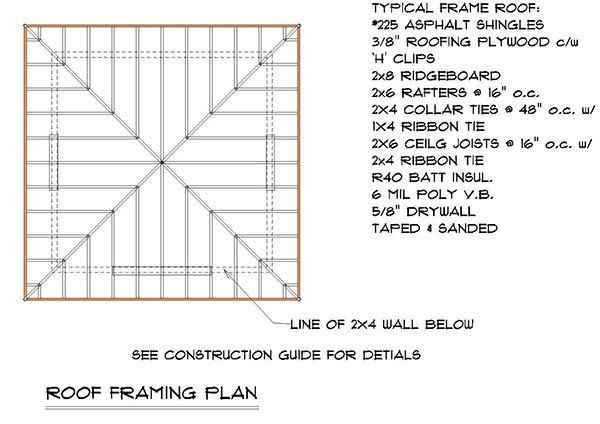 12x12 Hip Roof Shed Plans 10 Roof Framing Plan | Timber Frame and ...