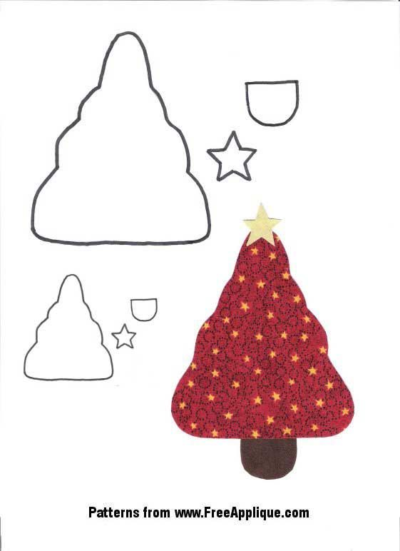 Christmas Tree Applique Pattern Free | christmas angel patterns ...