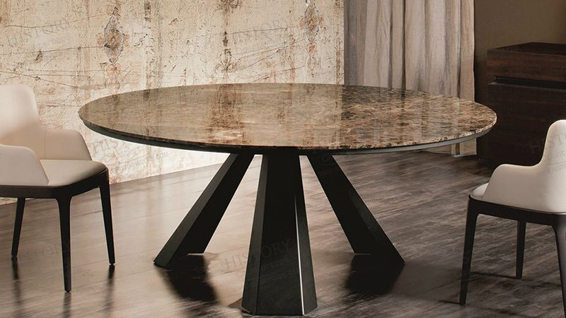 Best Spain Dark Emperador Brown Marble Table Countertops Dining