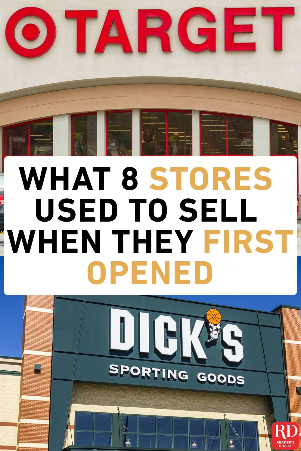 Here S What What 8 Stores Used To Sell When They First Opened Yes There Was A Time When You Could Get Pantyhose At Tra Things To Sell Famous Store Fun Sports