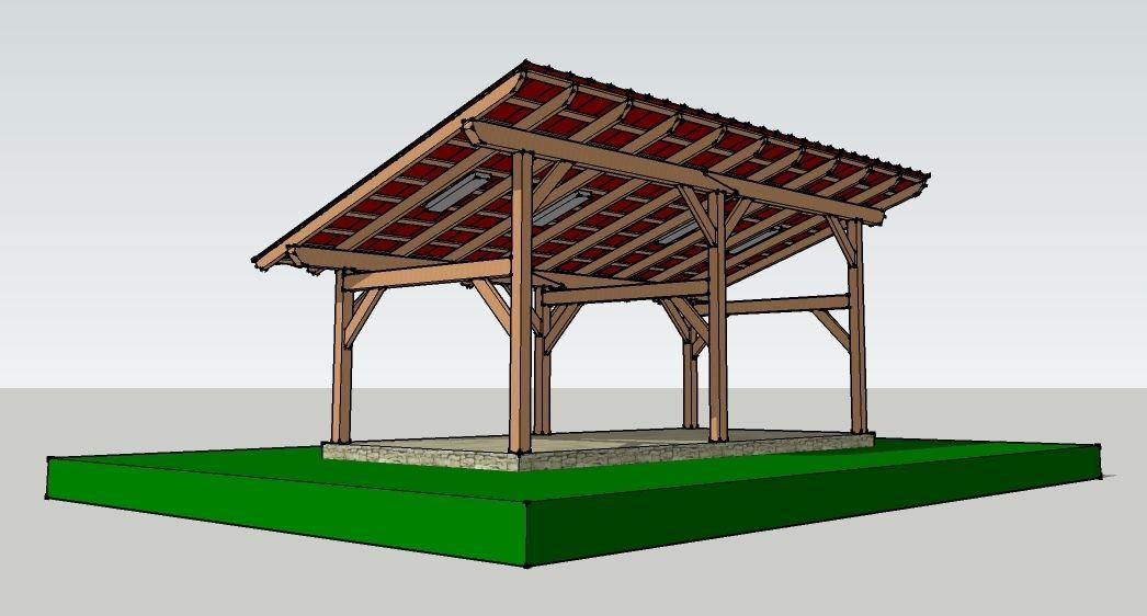 14x30 Timber Frame Shed Barn Barn Pergolas And Car Ports