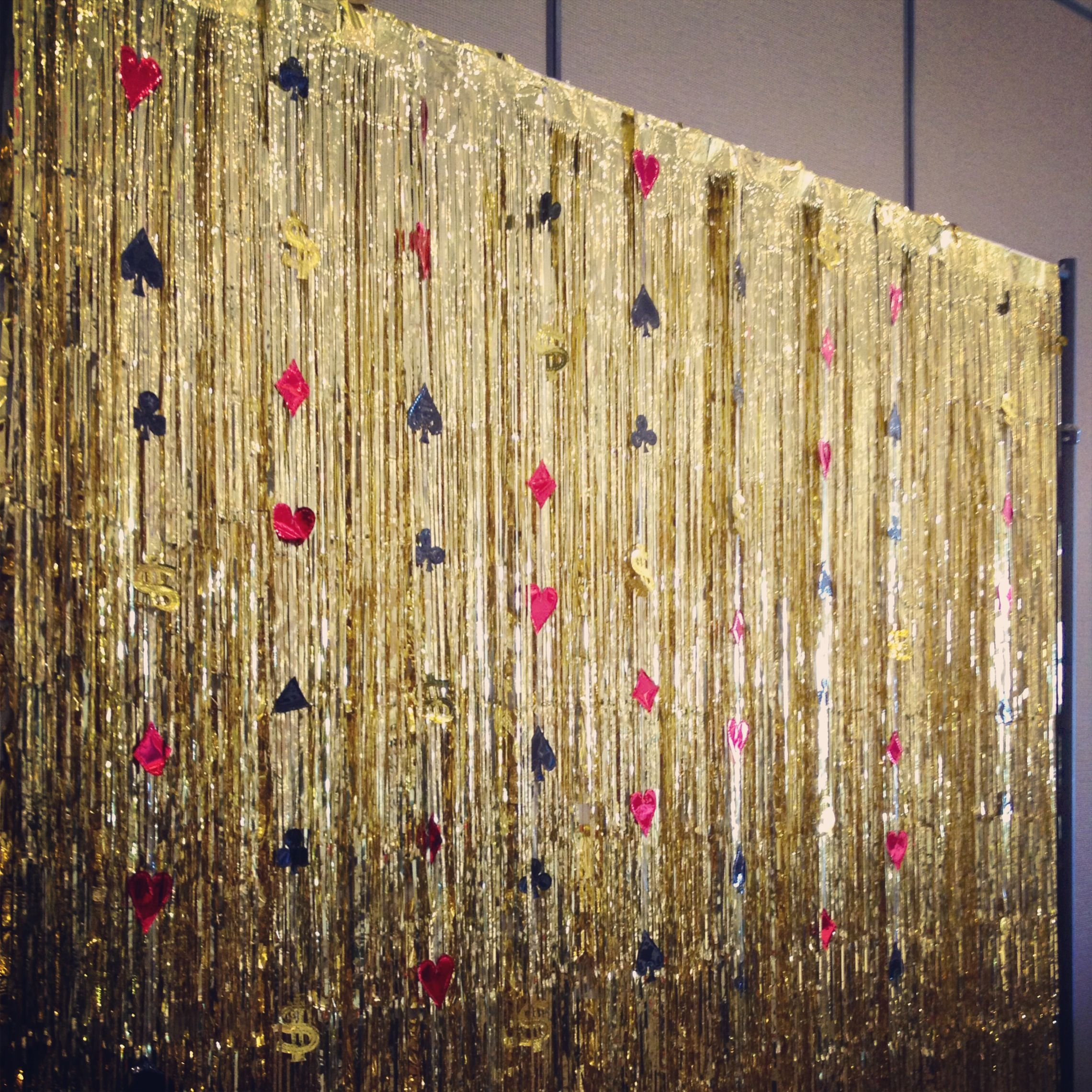 Casino-inspired photo backdrop for Vegas themed event  Made
