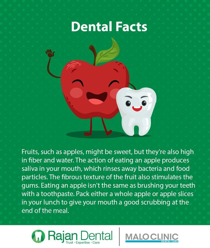 Dental Facts Fruits, such as apples, might be sweet, but they're also high in f #dentalfacts