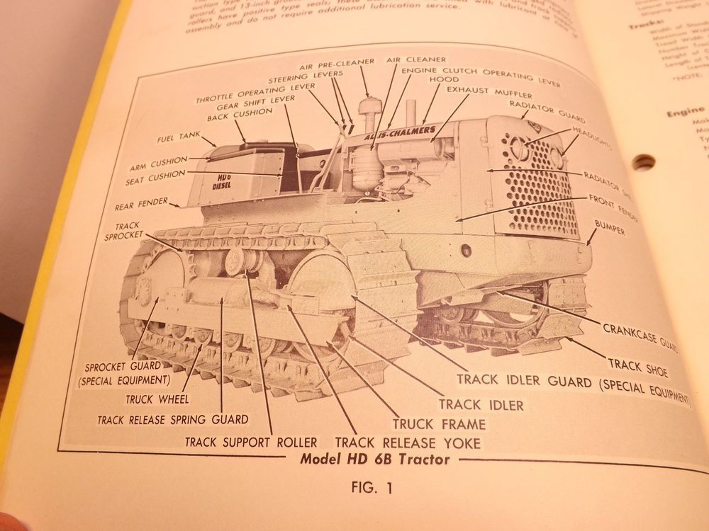 K00L!!))) Allis-Chalmers Crawler Tractor manual for HD-6A
