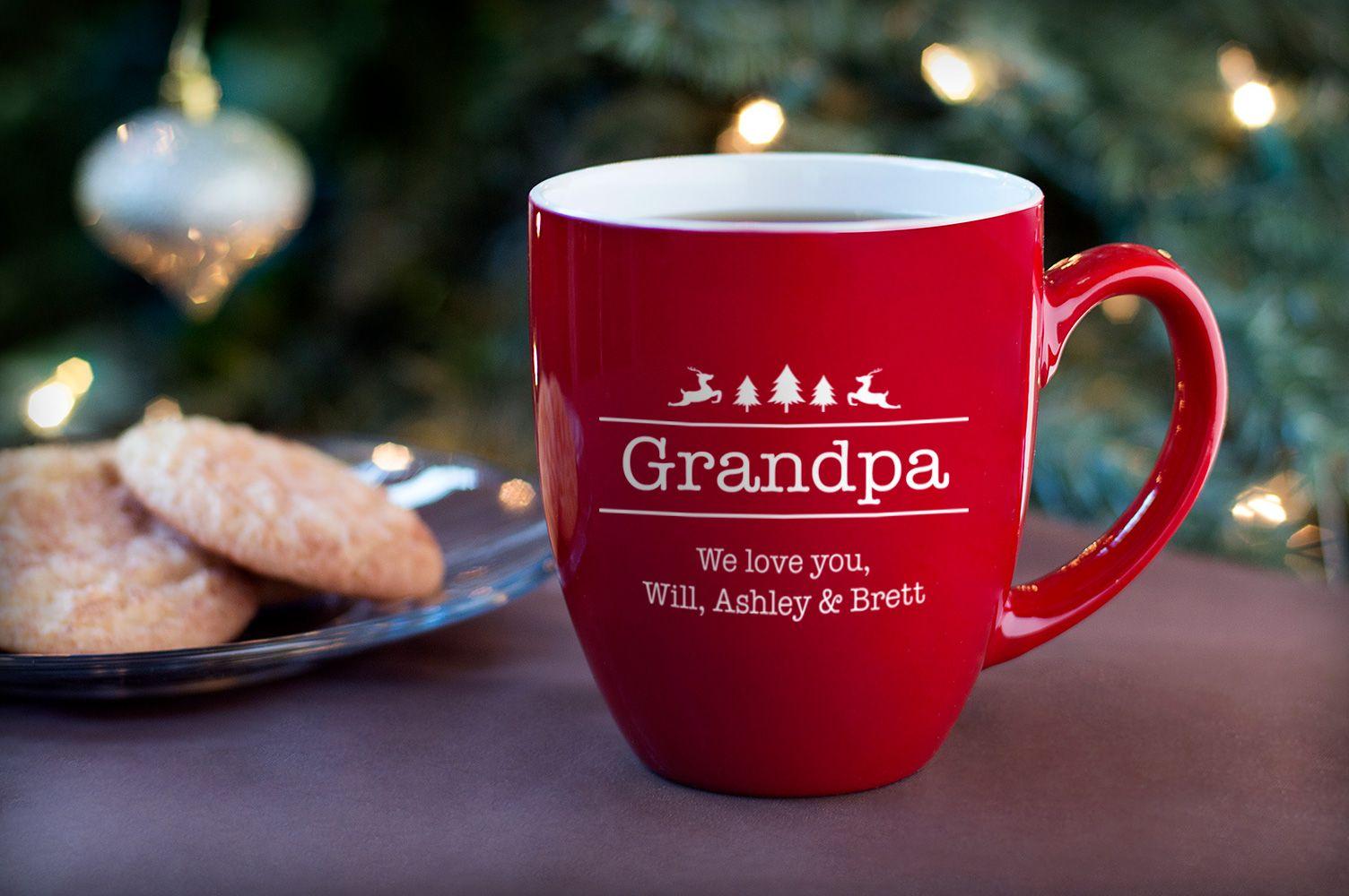 Personalized Grandpa Christmas Coffee Mug