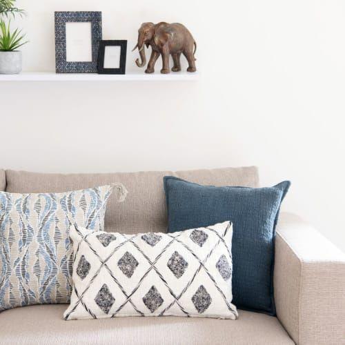 Cleep - maisondumonde - housse de coussin en coton blanc, beige, noir 30x50