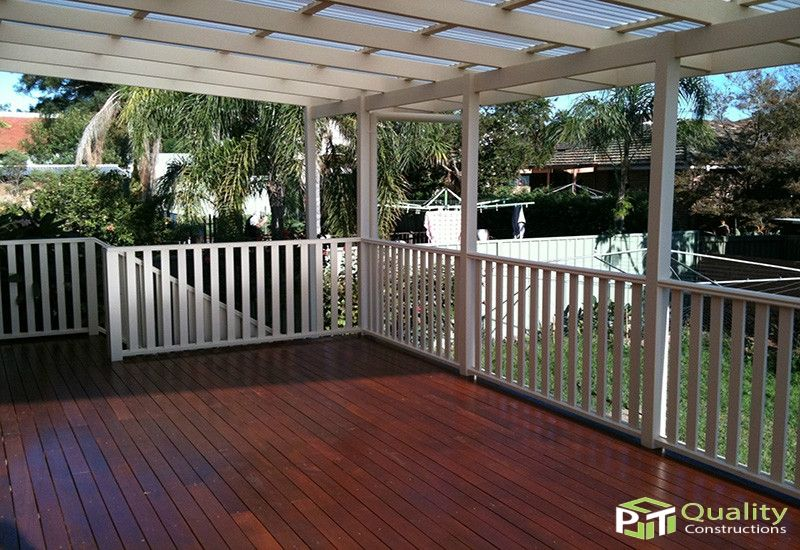 Federation Style Flat Roof Patio With Hardwood Timber Deck