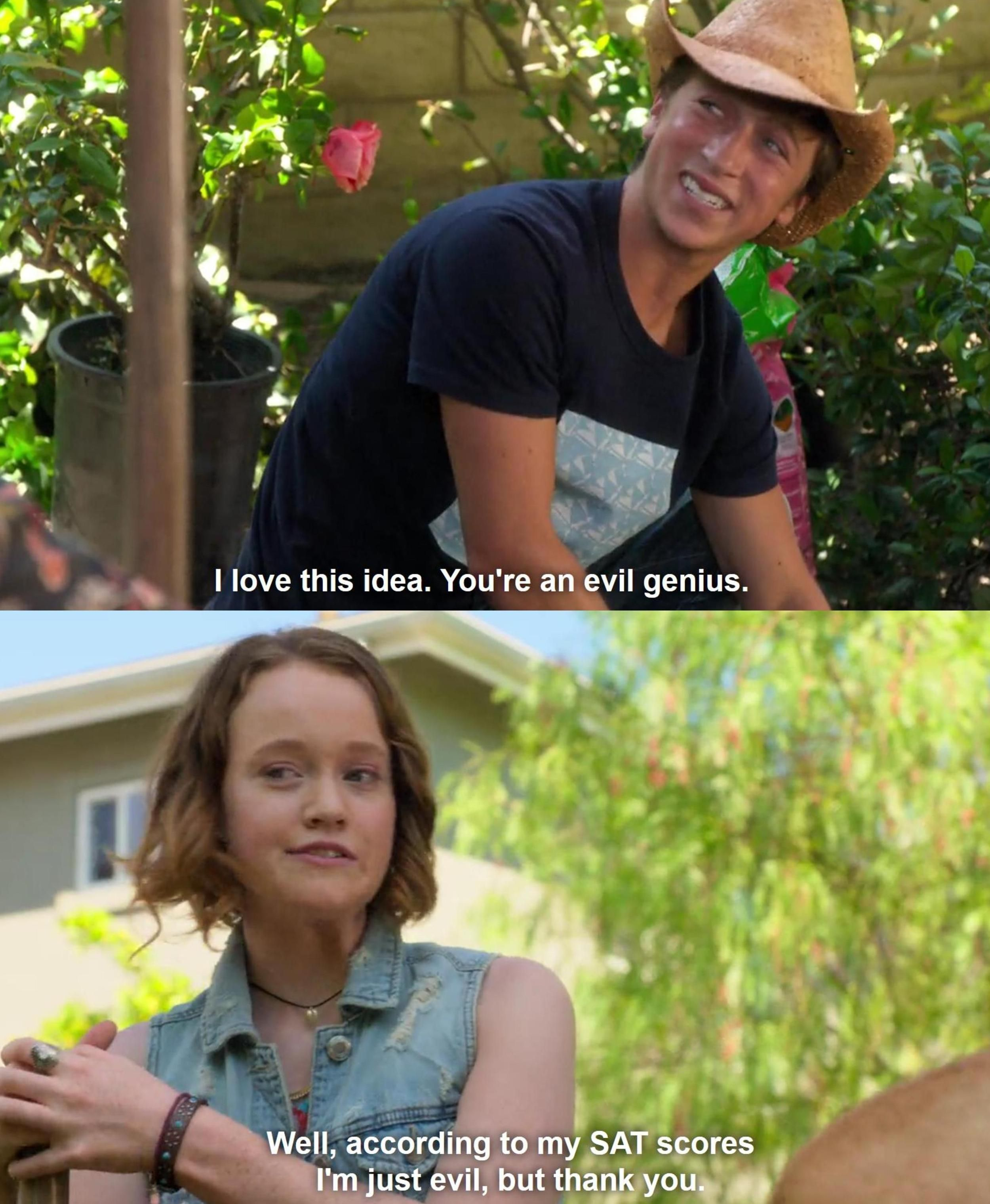 That one time when Abby Hammond was me. *evil laugh* Also, how adorable is Eric? One of the best characters to come out of The Santa Clarita Diet.