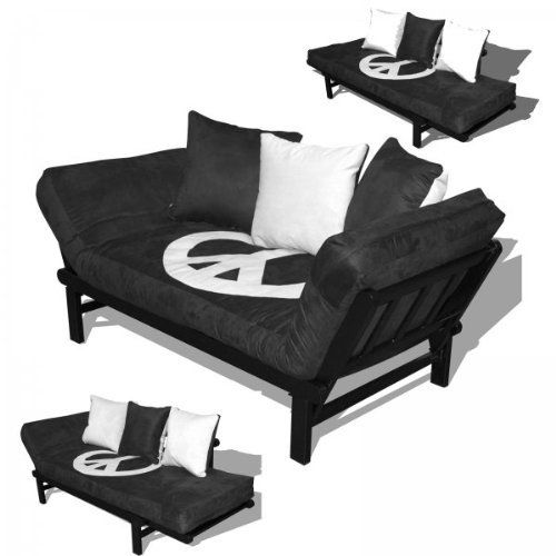 hudson convertible futon sofa with black metal frame by american furniture alliance by american furniture alliance hudson convertible futon sofa with black metal frame by american      rh   pinterest
