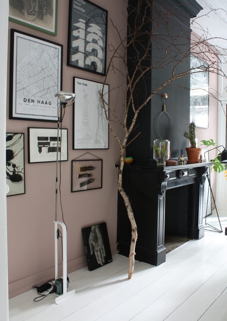 beautiful rooms pinterest black fire pink walls and fire places
