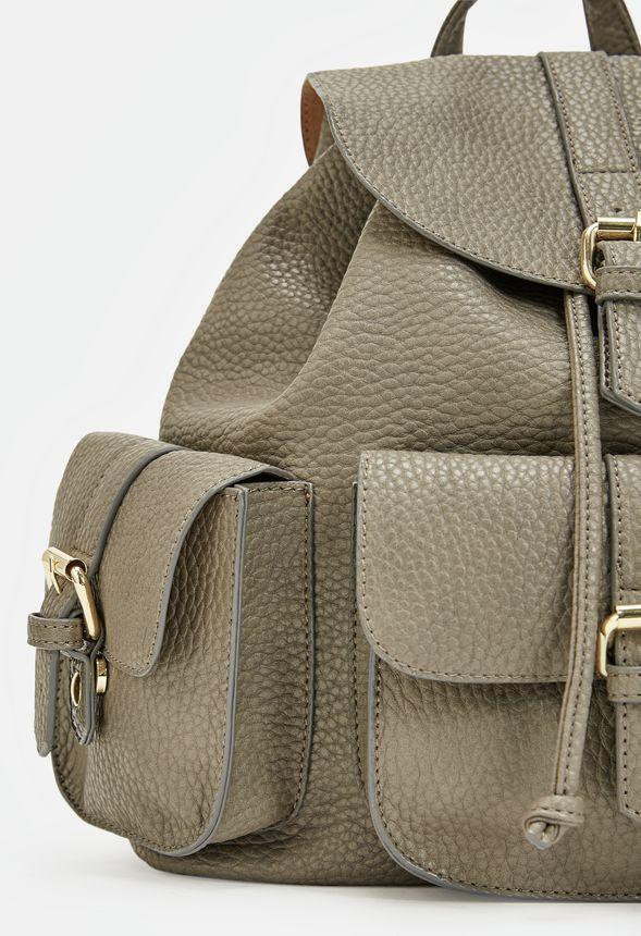 Bolsos Levy Backpack en Gris - Envío gratuito en JustFab