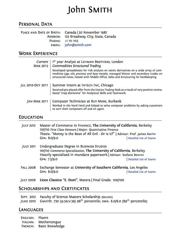 High School College Resume Template | Sample Resume 2017
