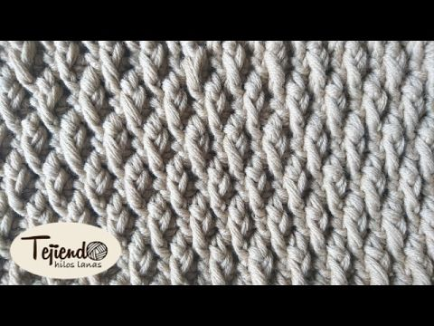 Punto Diamante de Crochet - Ganchillo - YouTube | puntos ganchillo ...