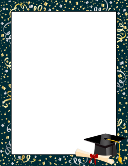 Graduation Border Bundle Graduation Frame Graduation Colorful Borders Design