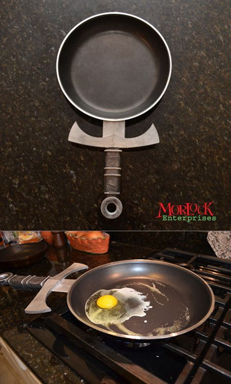 Geeky Frying Pan Designed To Look Like A Sword Cool Stuff Design Homey