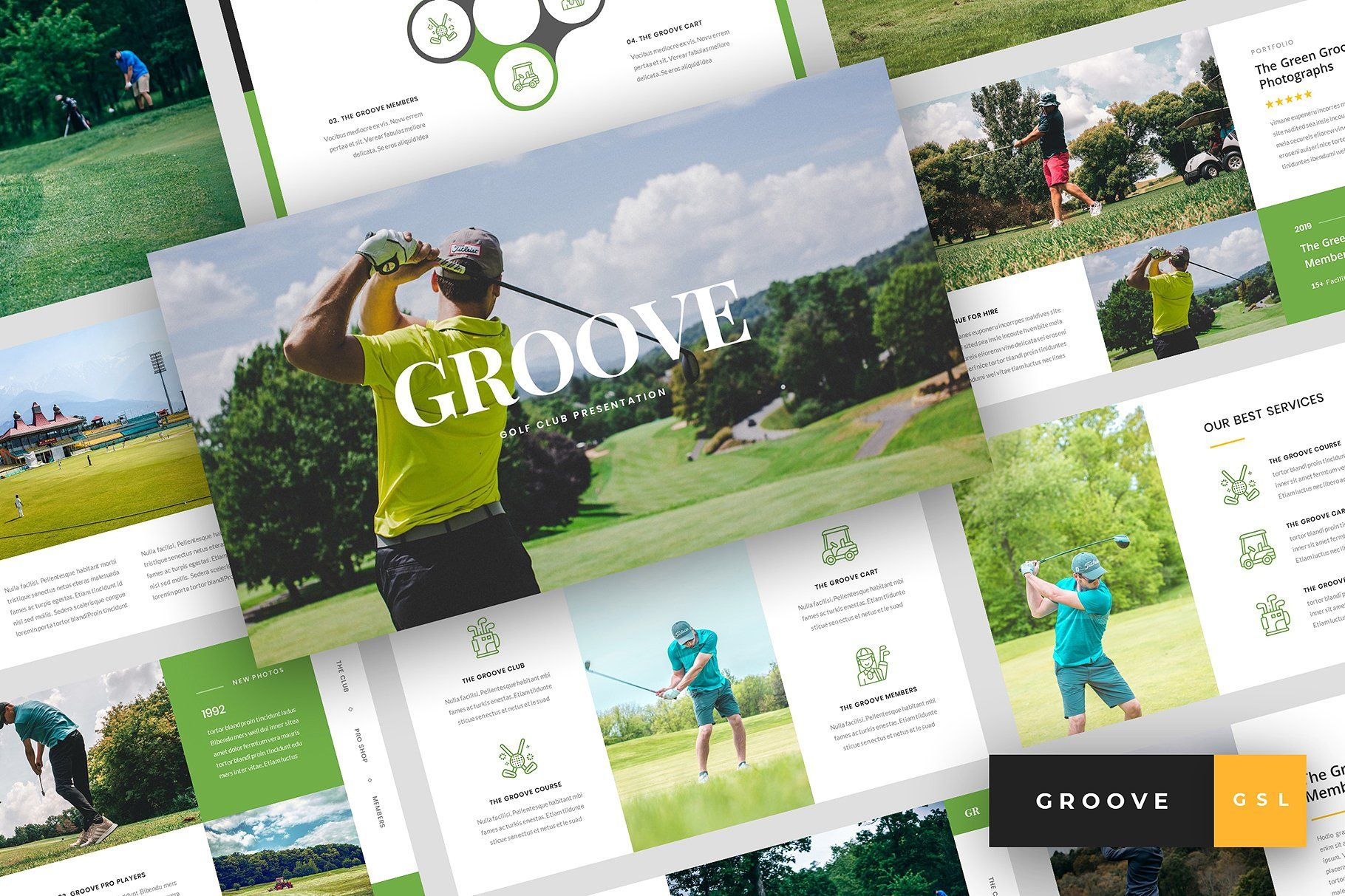 Groove Golf Club Google Slides By Stringlabs On