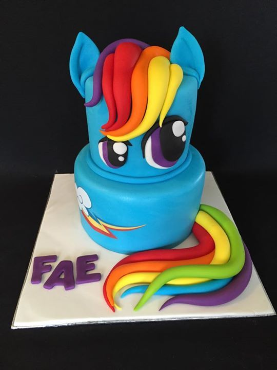 Magnificent Rainbow Dash Mlp Cake With Images Rainbow Dash Cake Rainbow Funny Birthday Cards Online Eattedamsfinfo