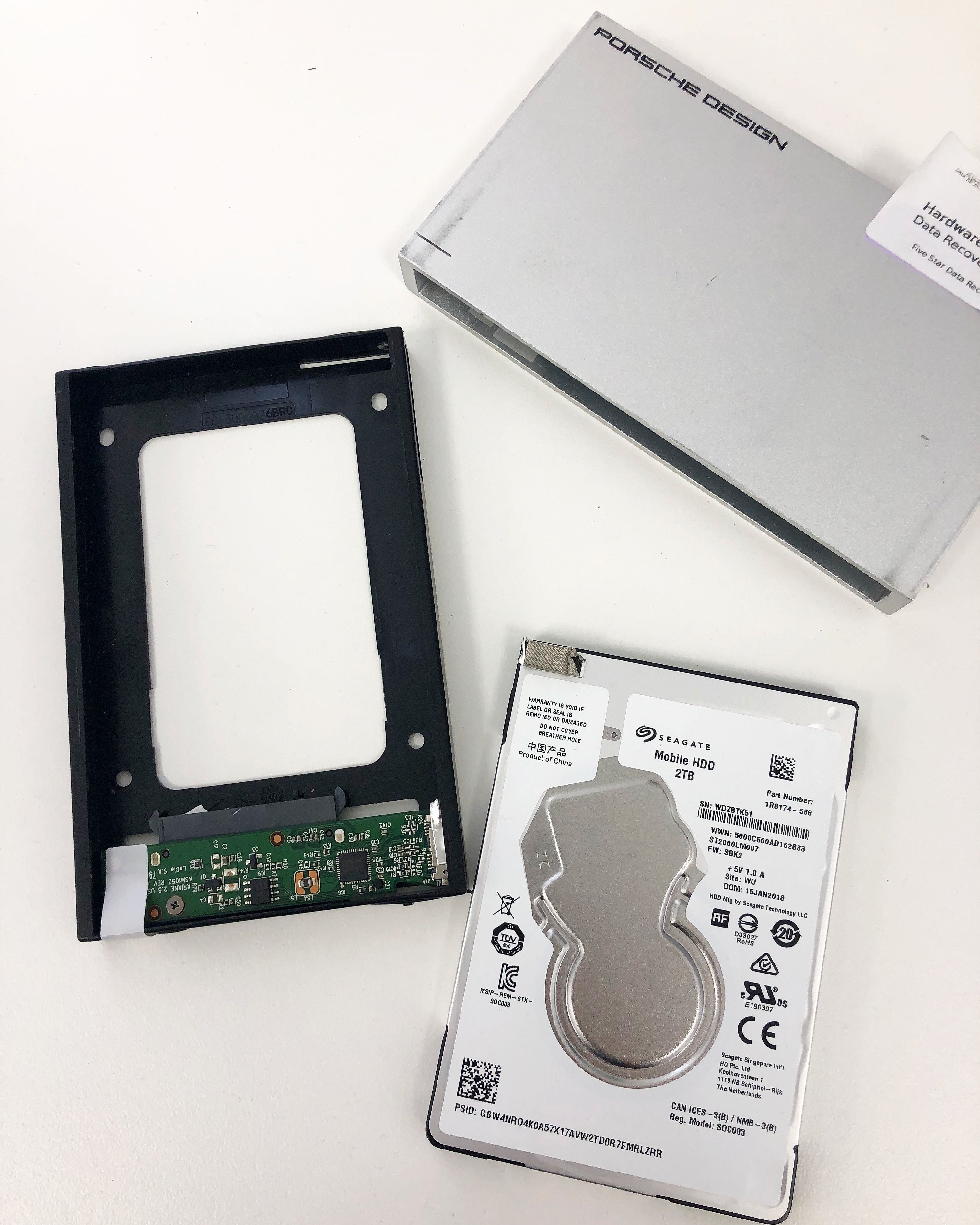 Working on a Seagate Slim (ST2000LM007) where the customer