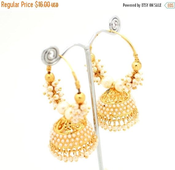 OFF Vintage Indian Bollywood Drop Dangle Artificial Gold