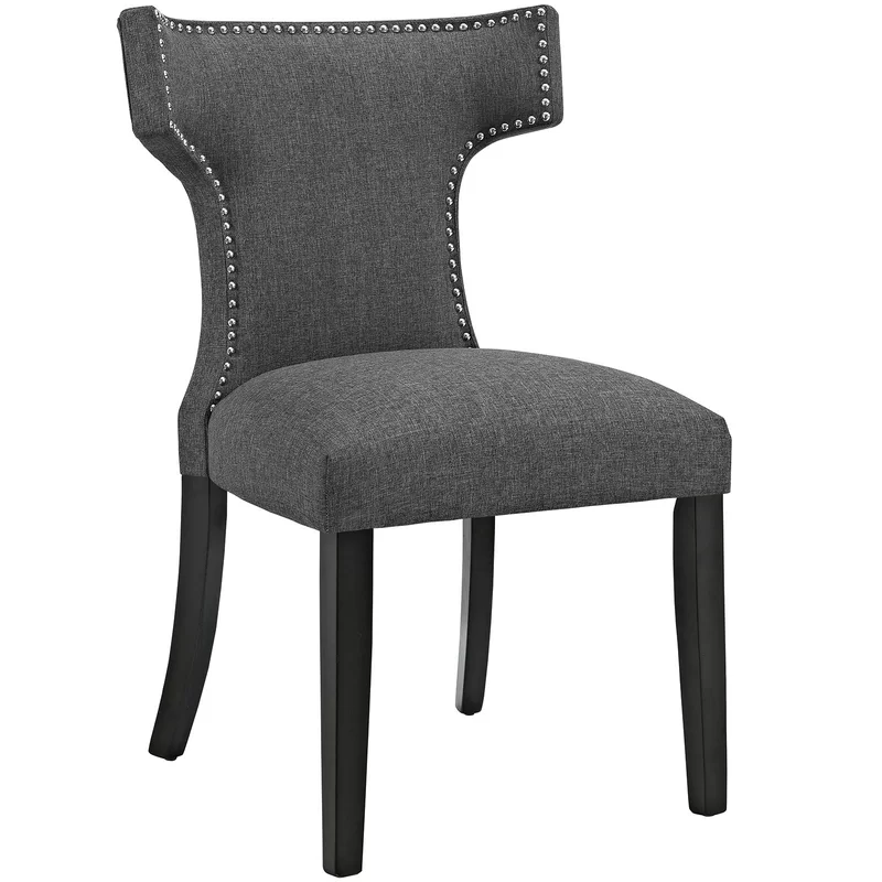 Niles Curve Upholstered Dining Chair In 2020 Fabric Dining