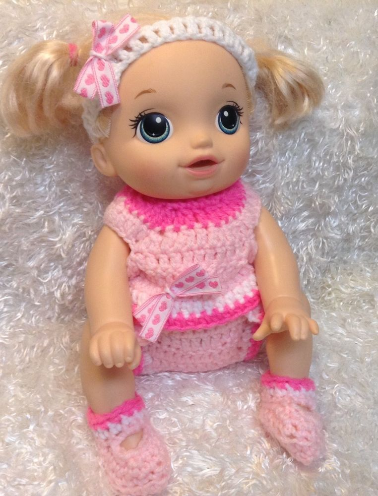 14 Inch Doll Clothes For Baby Alive Baby Go Bye Bye Pink Set