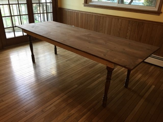 8ft long harvest table unfinished other