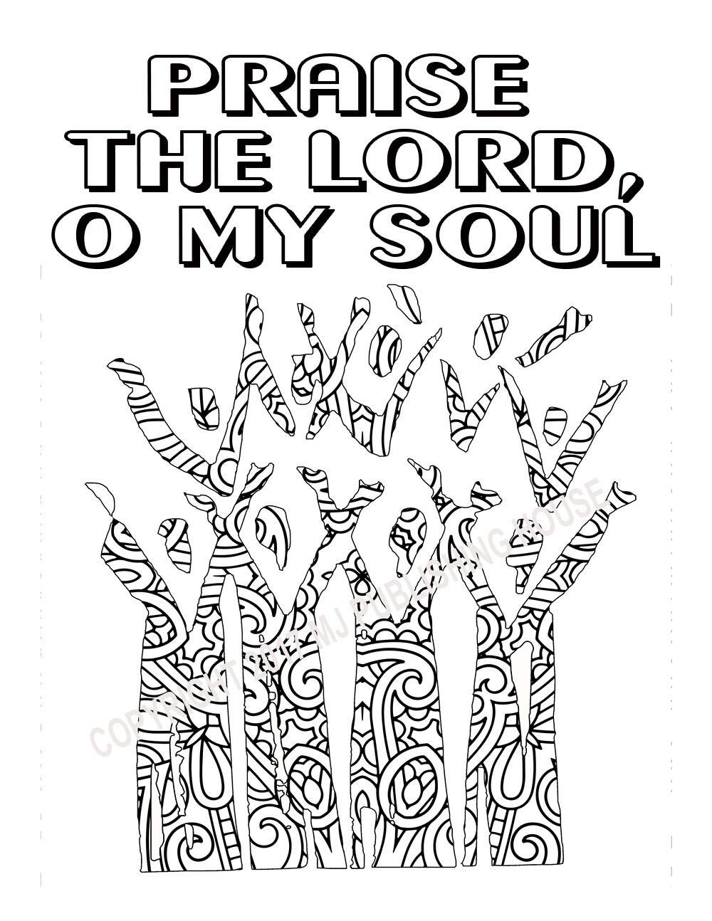 Bible Verse Coloring Page Praise The Lord O My Soul | Coloring For ...