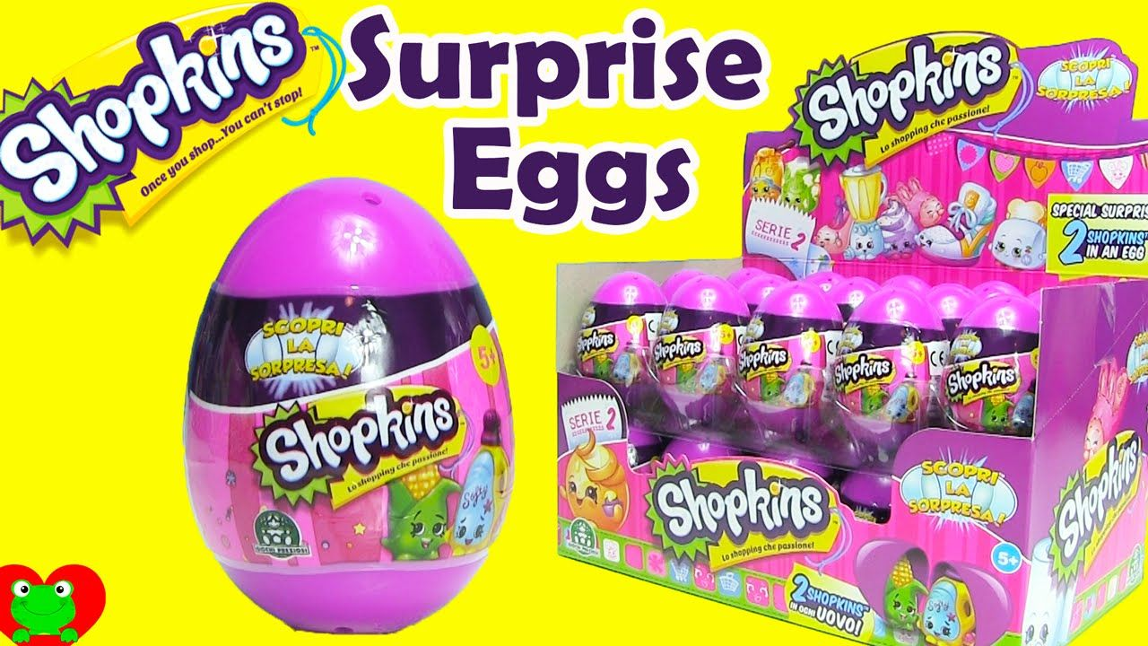 shopkins surprise eggs season 2 huevos sorpresa shopkins