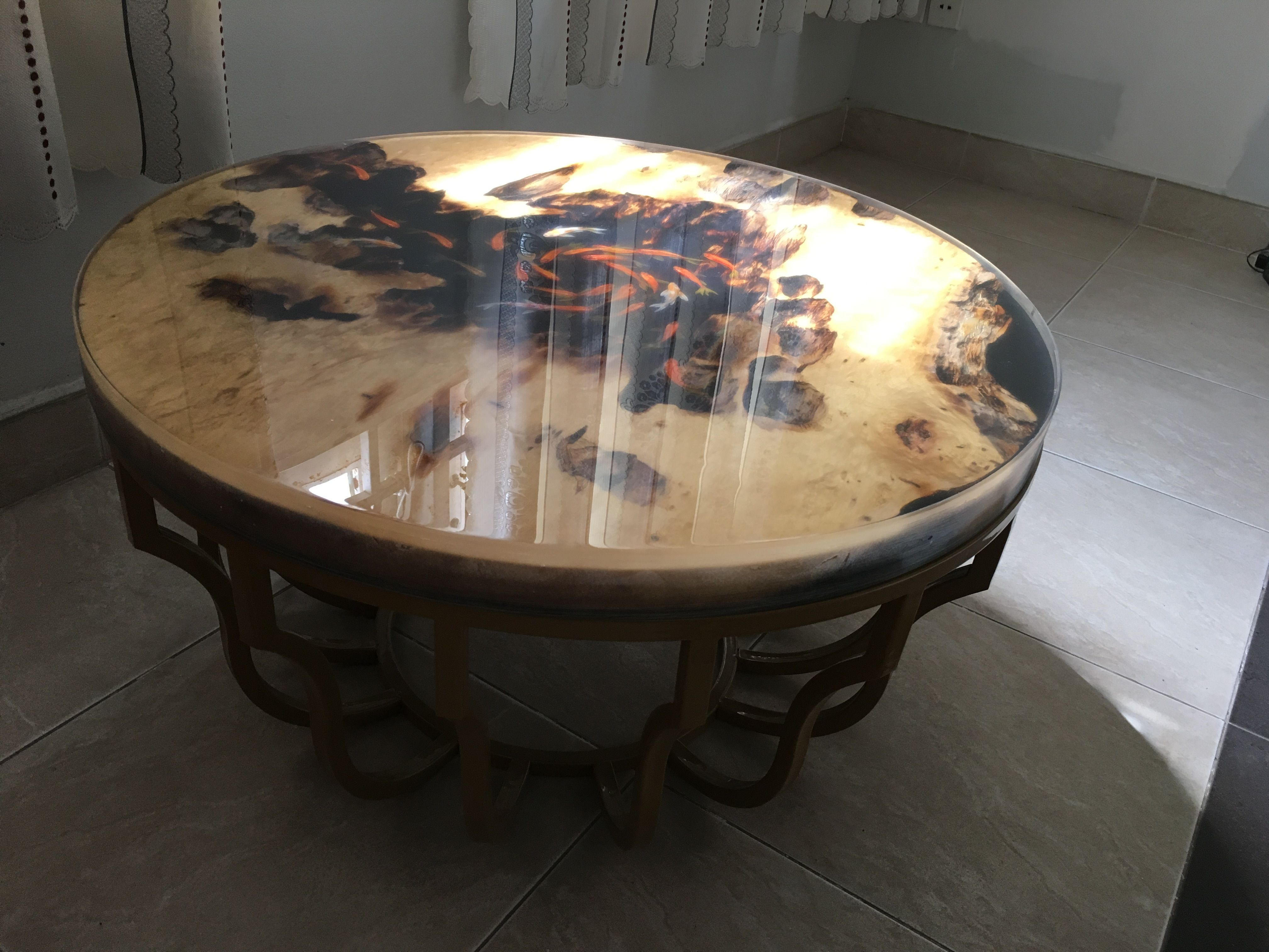 Original Goldfish 3d Table on Resin Resin Table Pinterest