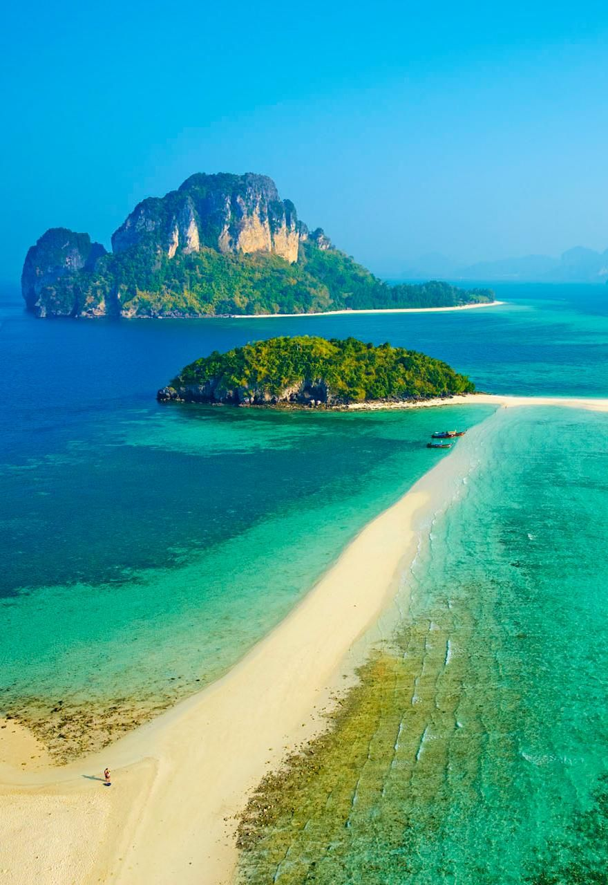 Ko Tub and ko Poda island in Thailand's Krabi province.