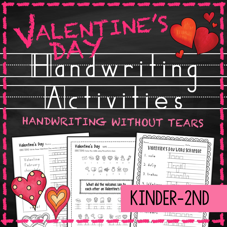 Valentines Day Handwriting Practice