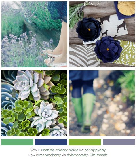 Navy Green LavenderGrey Mood Board via lovely clusters