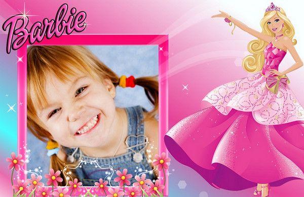 fotomontaje en marco de Barbie Princesa | beni | Pinterest | Barbie ...