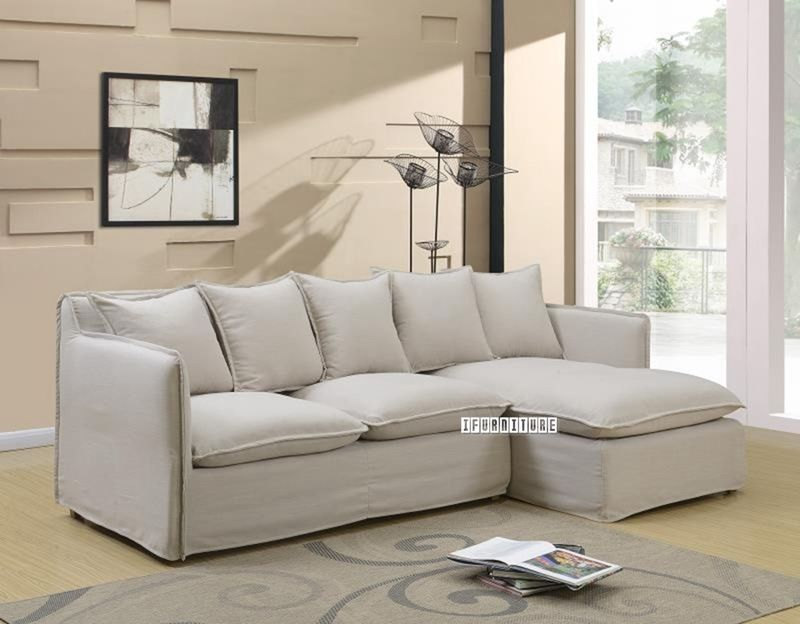 Tomasha Sectional Sofa Feather Filled Washable L Shaped Sofa Sofa Set Residential Furniture
