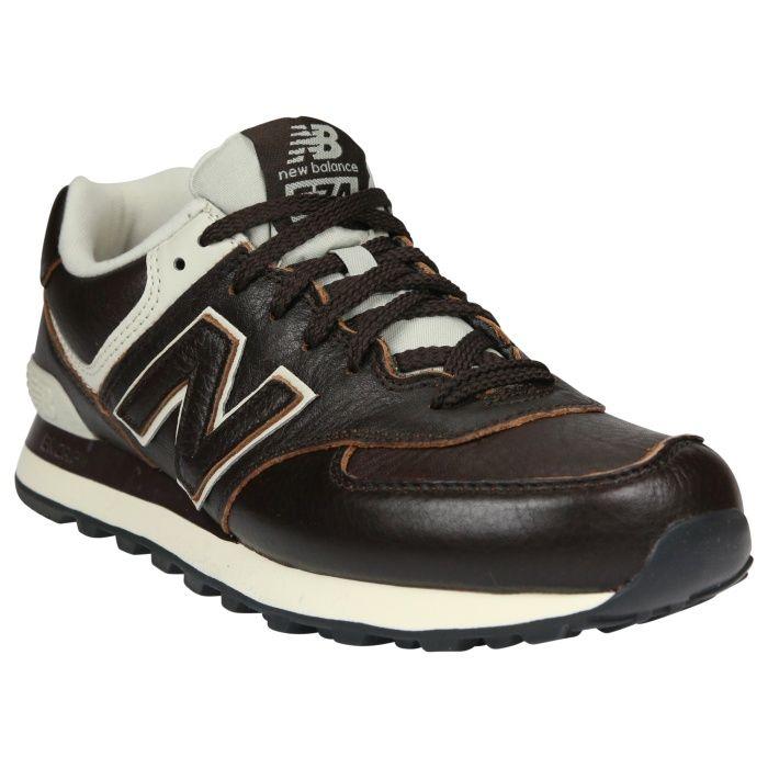 Ml574lua New Balance 574 Leather Herren Sneaker Braun Tenis