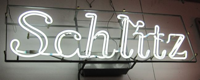 Vintage Neon Beer Signs Very Old Neon Working Schlitz Beer Signprice $450  Vintage