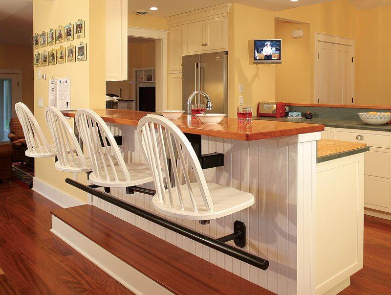 Google Image Result For Http Www Finehomebuilding Com Assets Uploads Posts 4877 H179 Kit Kitchen Counter Bar Stools Counter Bar Stools Kitchen Counter Design