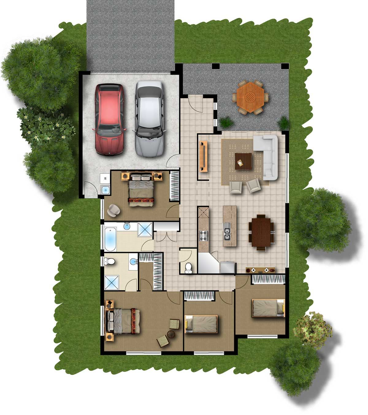 Home Plans Of This Website Country House Plans One Story Browse Nearly 40000 Ready Made House