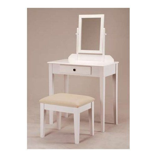 small white vanity table. White Bedroom Vanity Table with Tilt Mirror Cushioned Bench  Be sure to check out this