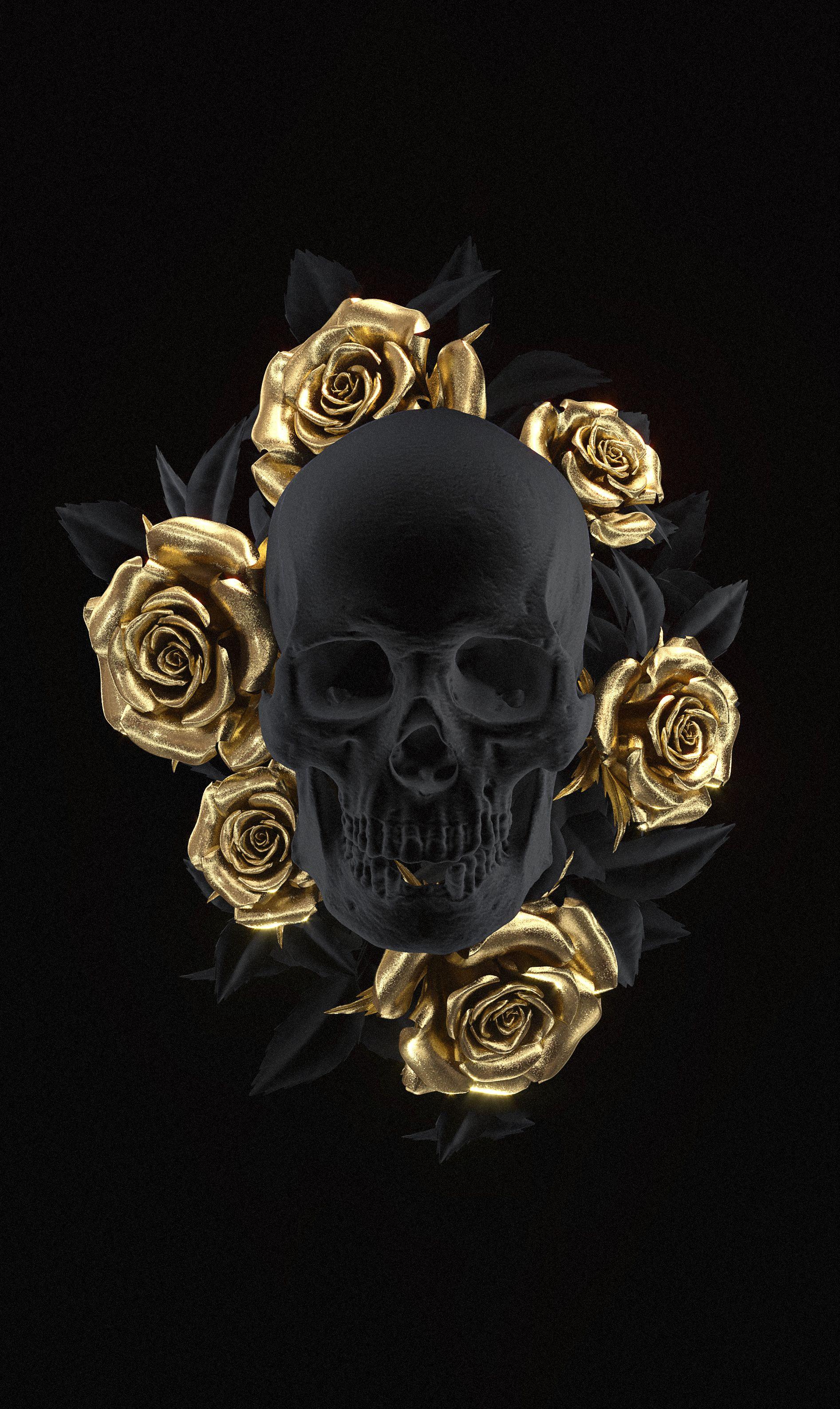 Skull Art by UK artist Billelis
