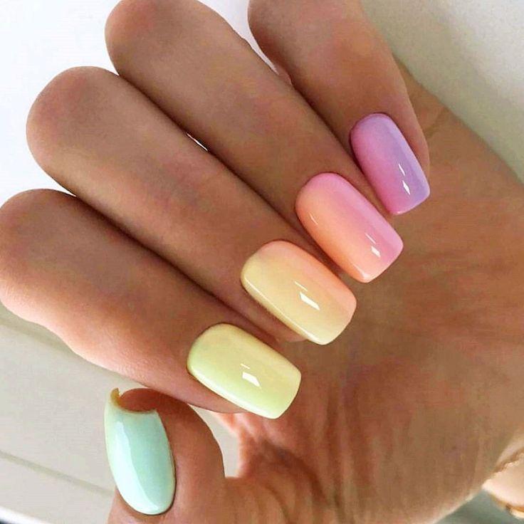 Nail Ideas Acrylic Short _ Nail Ideas in 2020 | Pretty acrylic nails, Nail colors, Summer nails colors