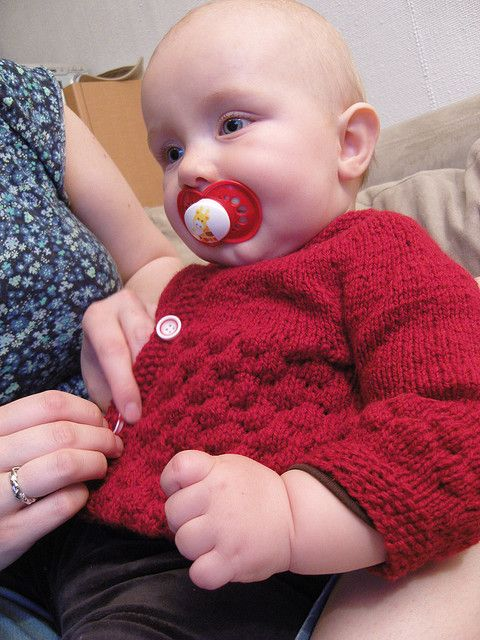 Knit baby cardigan sweater free pattern