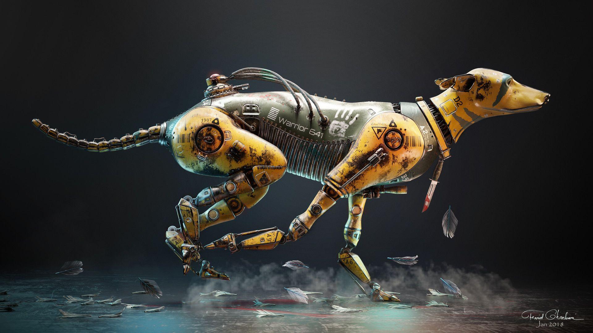 Warrior Dog 641 by Farid Ghanbari | Dog poster, Robot ...
