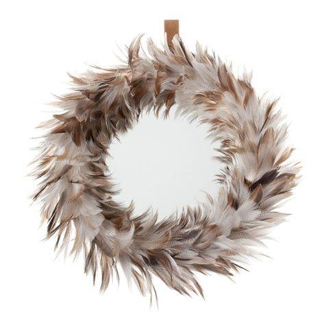 feather mirror zara home t rkiye turkey i t e m s. Black Bedroom Furniture Sets. Home Design Ideas
