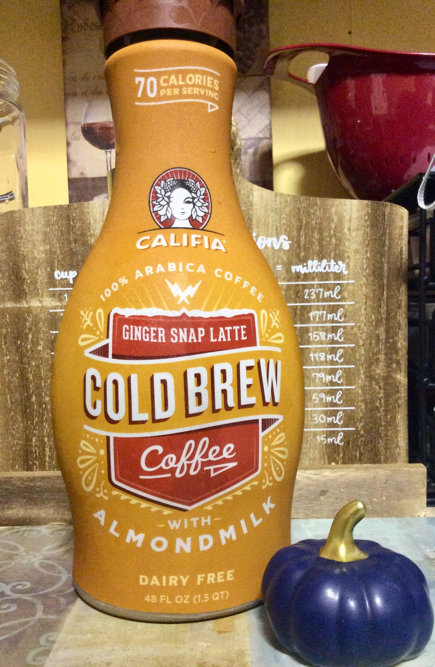 Califia farms limited edition gingersnap latte cold brew