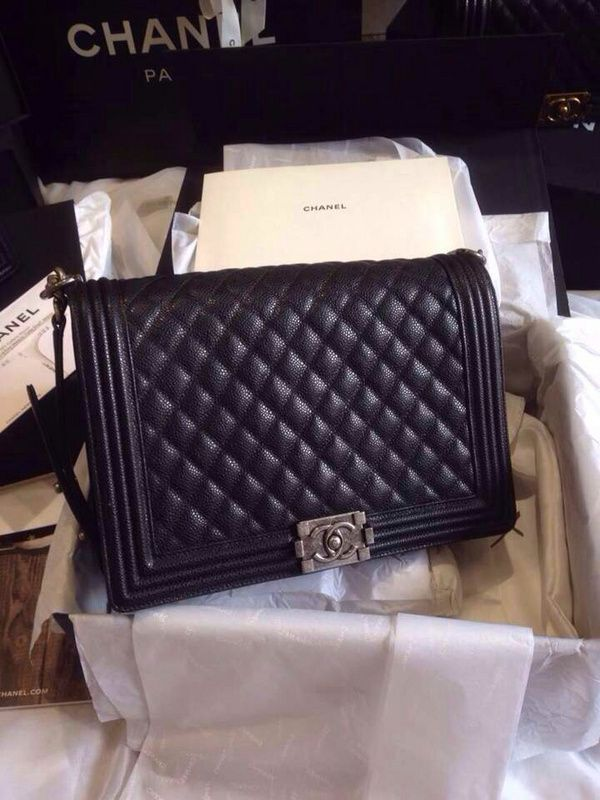 4312cb658375 Ms Fashion Junkie - Chanel Caviar Large Boy 30cm Flap Bag Fall Winter 2014  Collection SHW