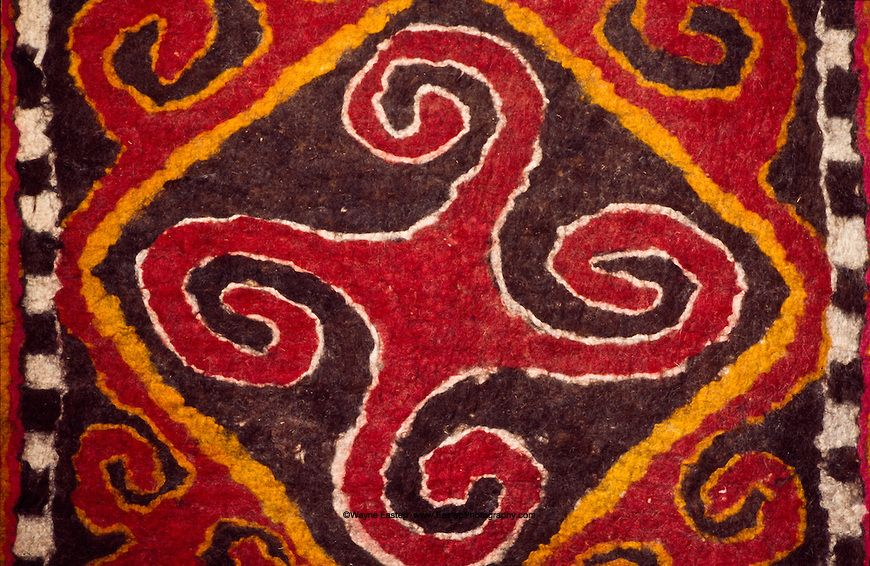Hello all.   Today I will talk about one particular textile tradition of the Kirghiz people, floor felts.   The Kyrghyz speak a Kipchak...