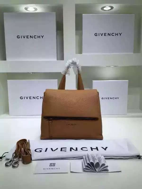 S S 2016 Givenchy Collection Outlet-Givenchy  Pandora Pure  Medium Camel  Leather Flap Bag Sale Online c817056bfa30b