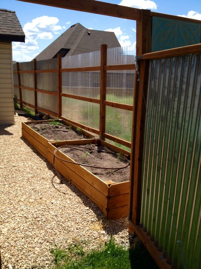 An Update On The Weathering And Wear Corrugated Metal Fence Diy Backyard We Put In At Our House